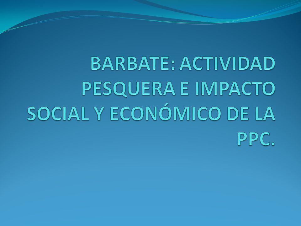BARBATE: ACTIVIDAD PESQUERA E IMPACTO SOCIAL Y ECONÓMICO DE LA PPC.