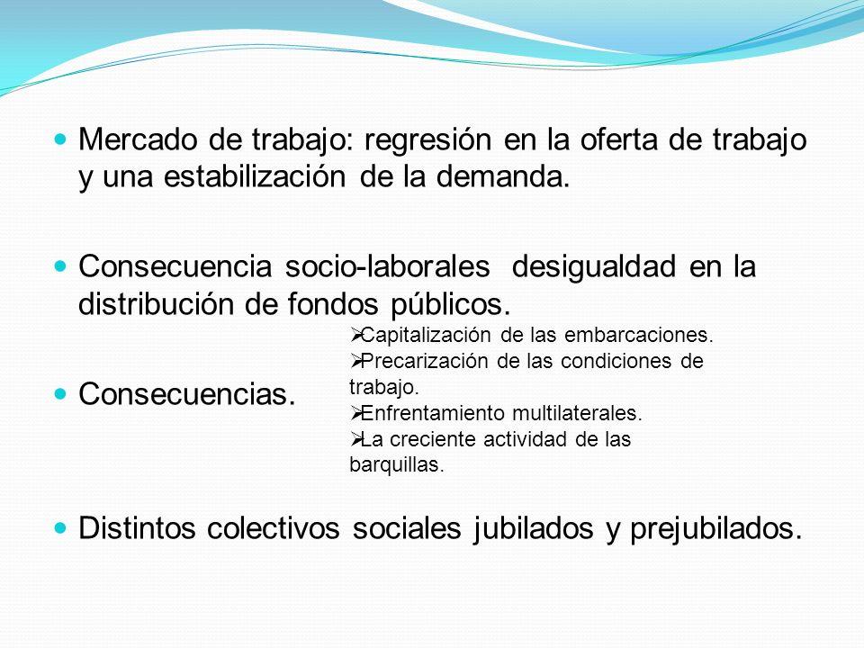Distintos colectivos sociales jubilados y prejubilados.