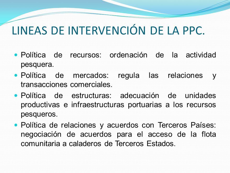 LINEAS DE INTERVENCIÓN DE LA PPC.