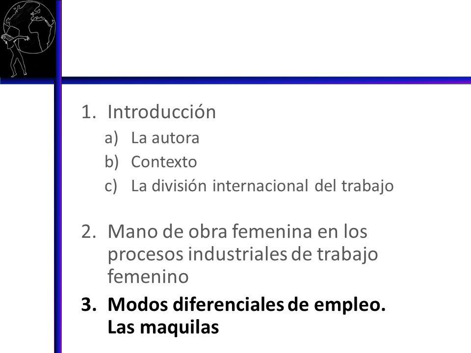 Mano de obra femenina en los procesos industriales de trabajo femenino