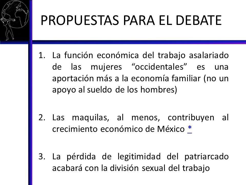 PROPUESTAS PARA EL DEBATE