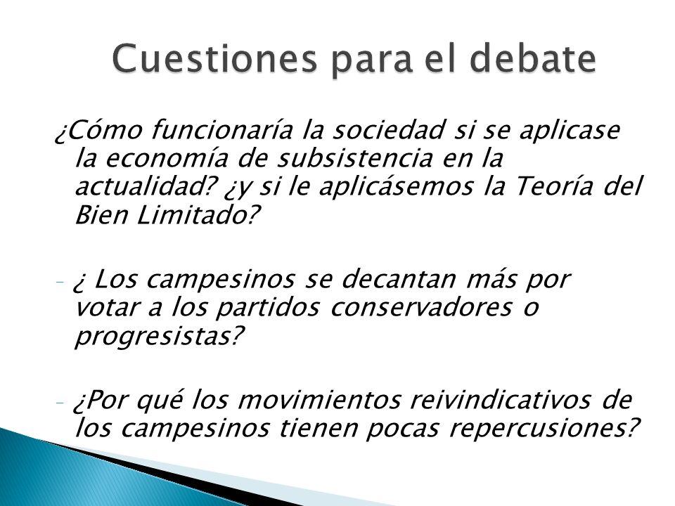 Cuestiones para el debate