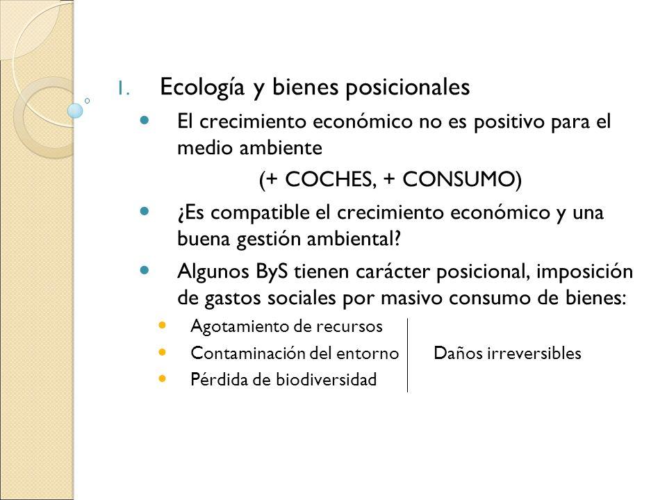 Ecología y bienes posicionales