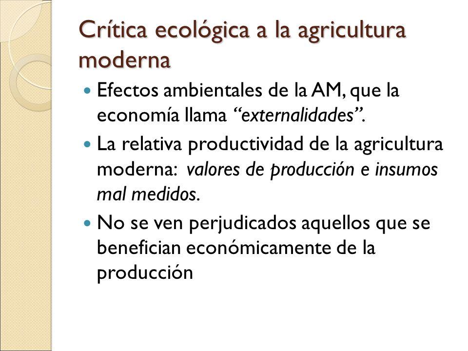 Crítica ecológica a la agricultura moderna