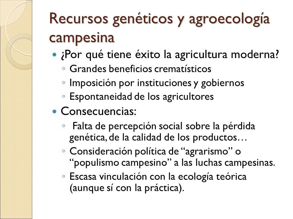 Recursos genéticos y agroecología campesina