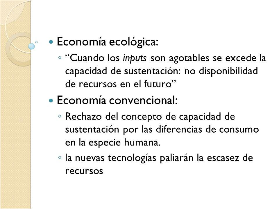 Economía convencional: