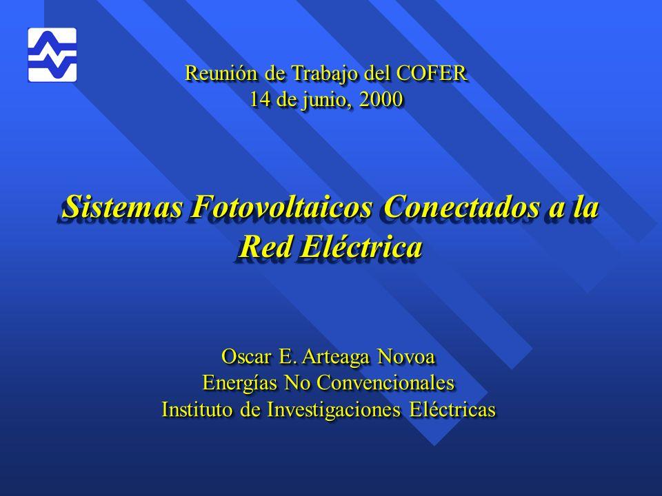 Sistemas Fotovoltaicos Conectados a la Red Eléctrica