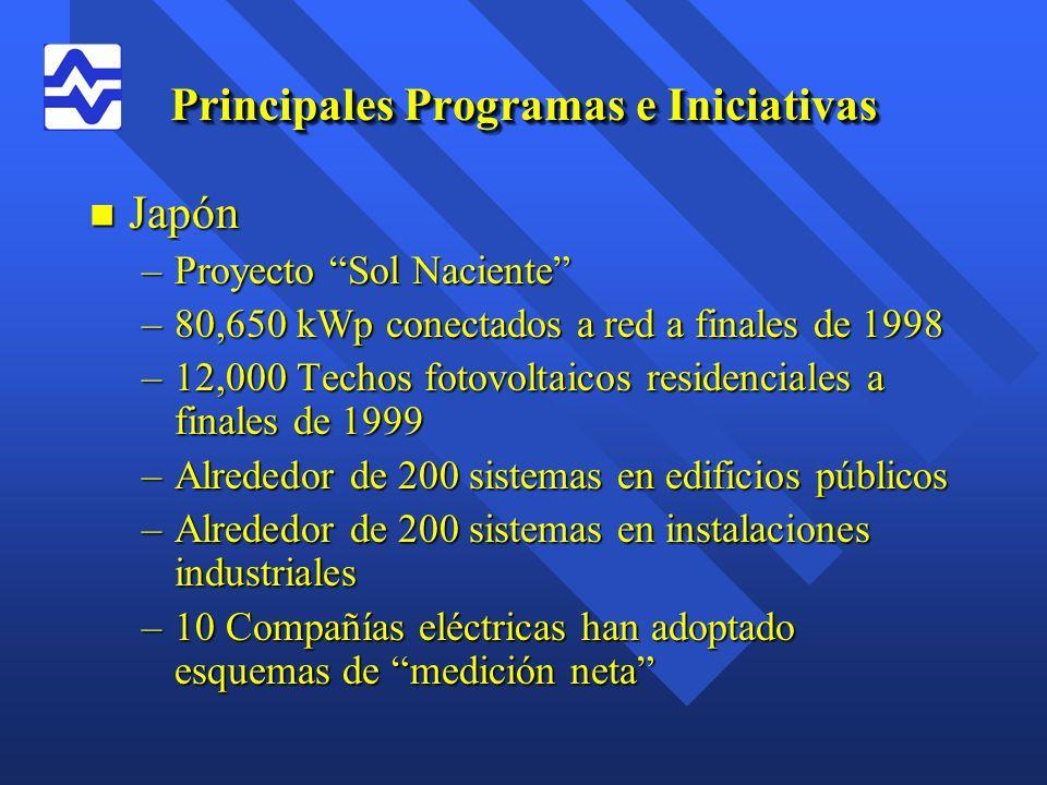 Principales Programas e Iniciativas