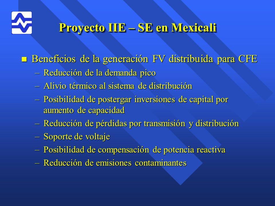 Proyecto IIE – SE en Mexicali
