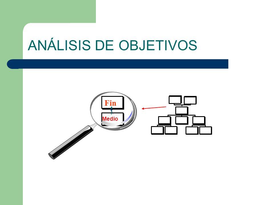 ANÁLISIS DE OBJETIVOS Fin Medio
