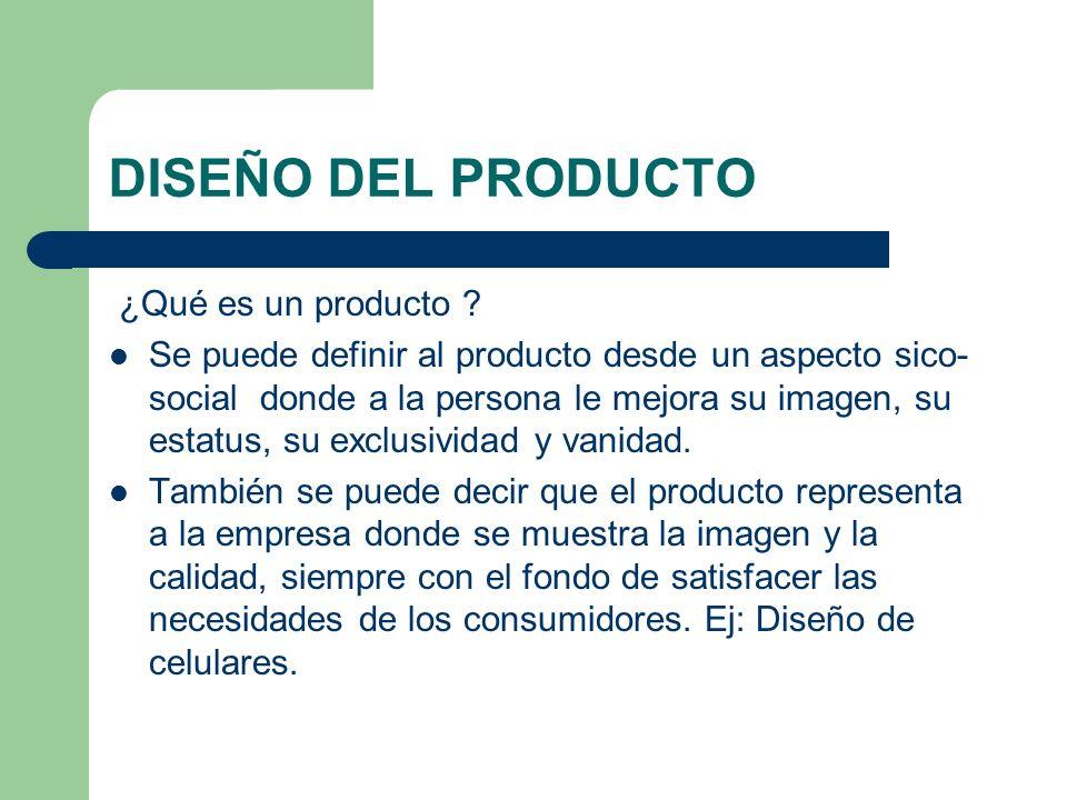 DISEÑO DEL PRODUCTO ¿Qué es un producto