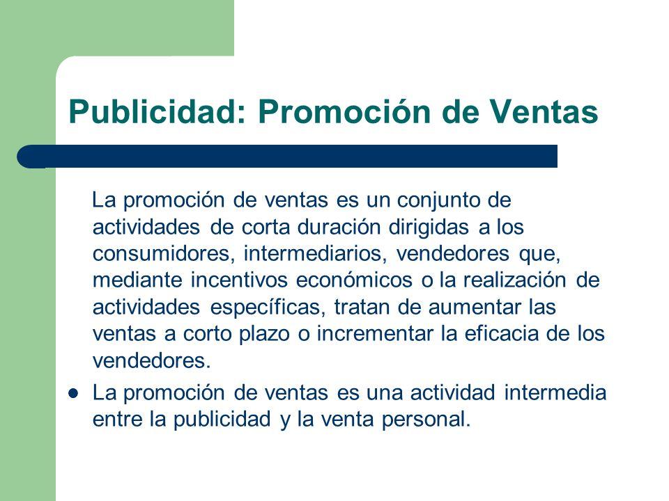 Publicidad: Promoción de Ventas