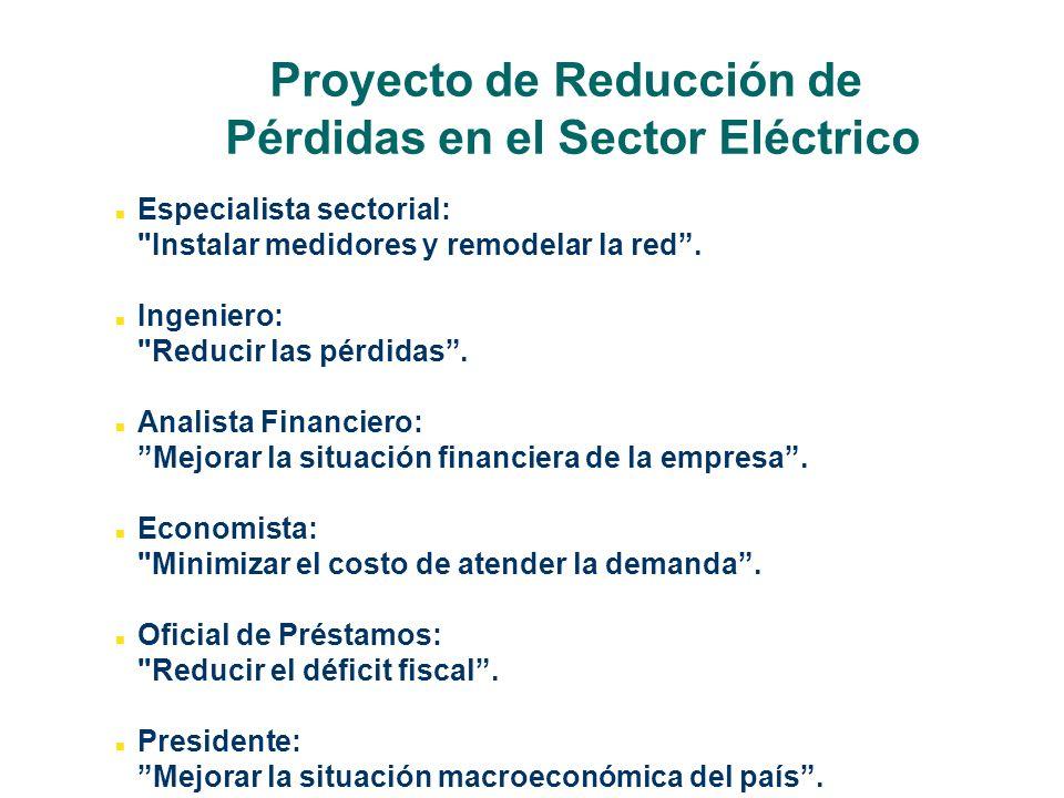 Proyecto de Reducción de Pérdidas en el Sector Eléctrico