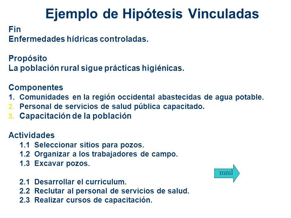 Ejemplo de Hipótesis Vinculadas