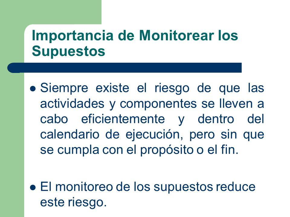 Importancia de Monitorear los Supuestos