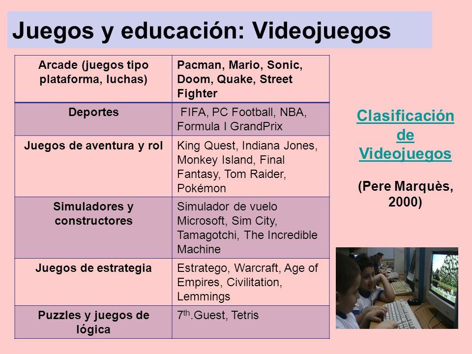 Juegos y educación: Videojuegos