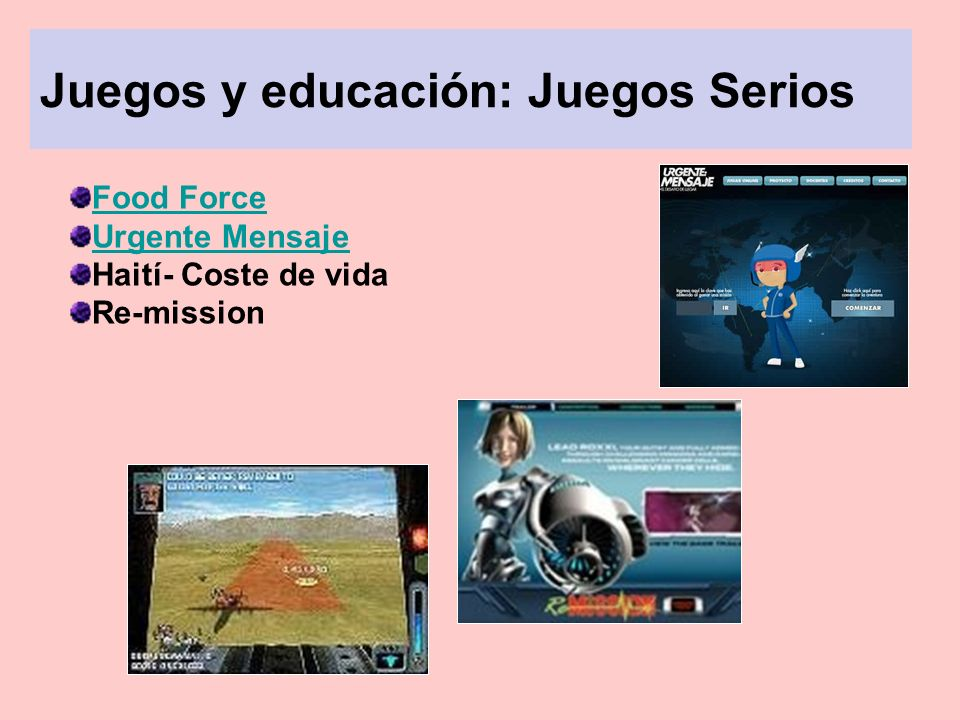 Juegos y educación: Juegos Serios