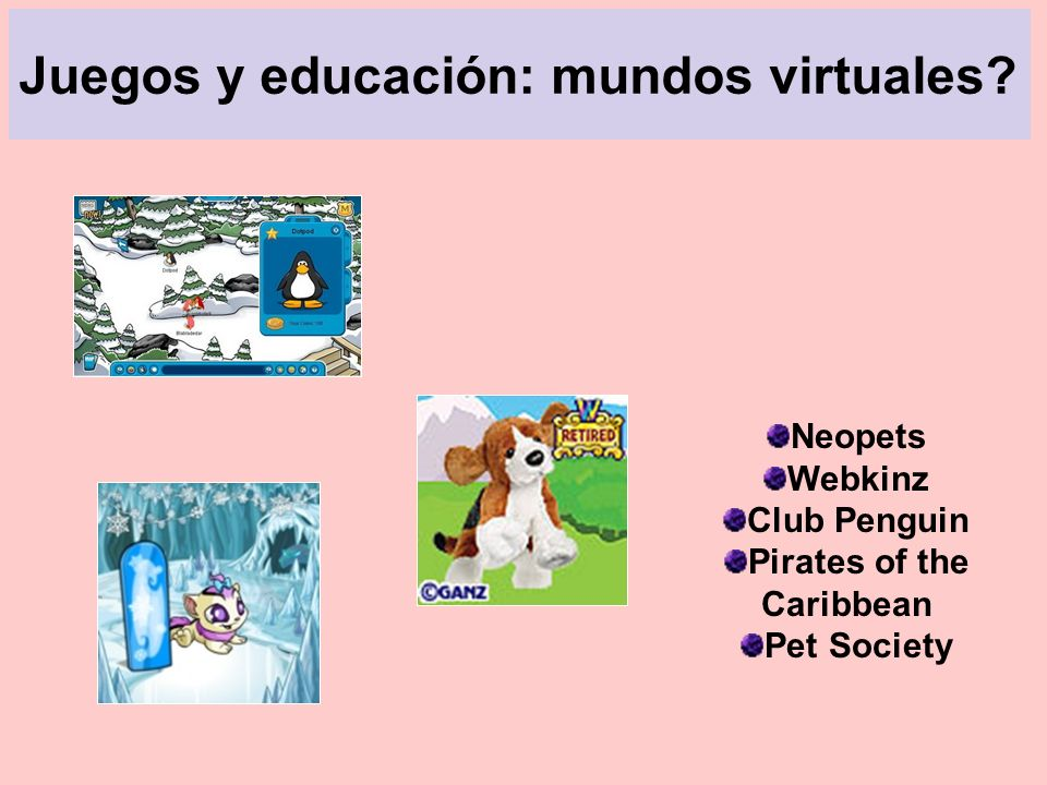 Juegos y educación: mundos virtuales