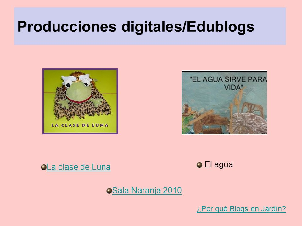 Producciones digitales/Edublogs