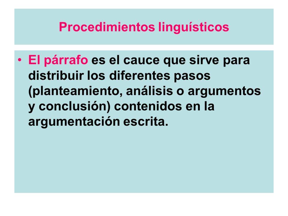 Procedimientos linguísticos