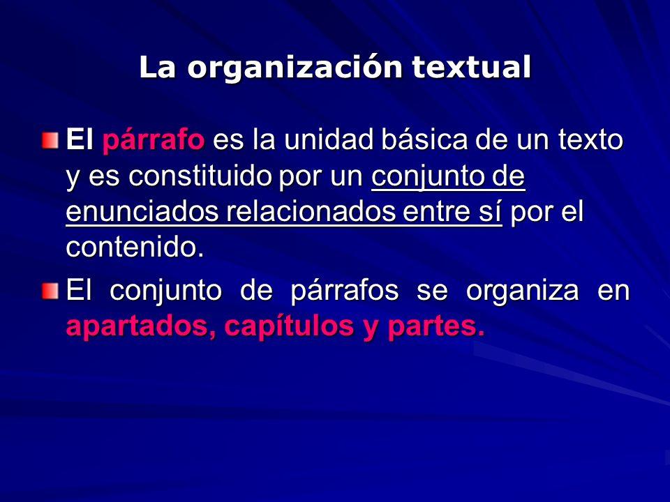 La organización textual