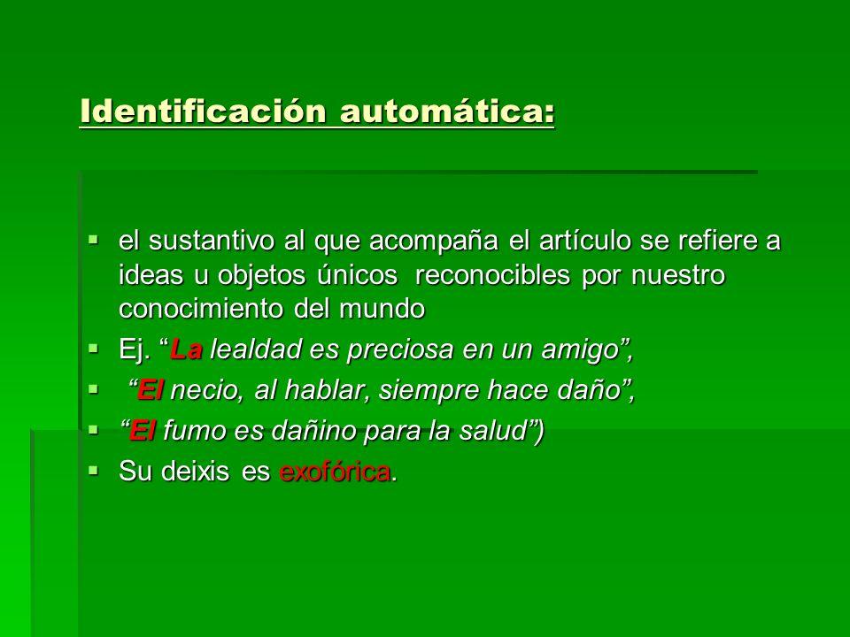 Identificación automática: