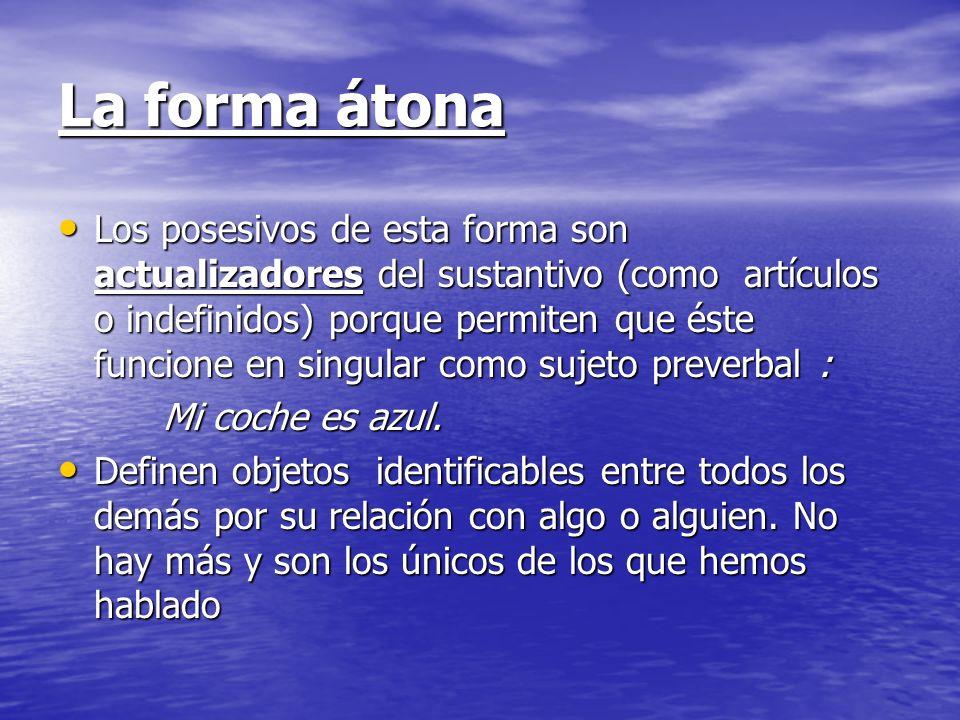 La forma átona