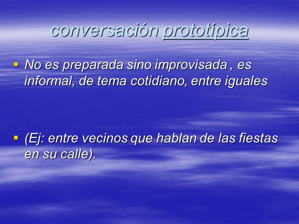 conversación prototípica