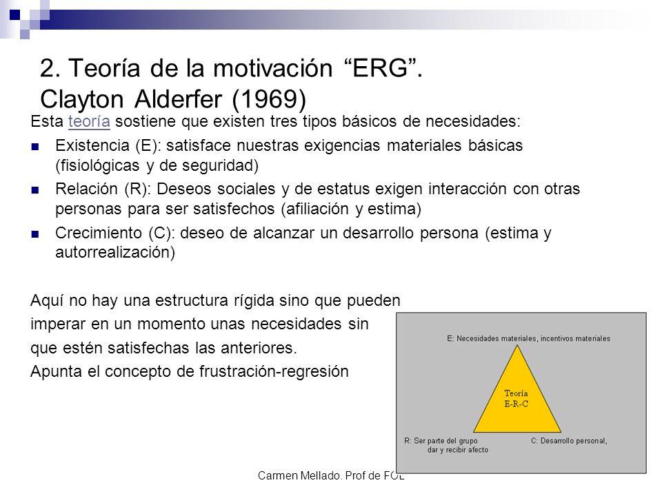 2. Teoría de la motivación ERG . Clayton Alderfer (1969)