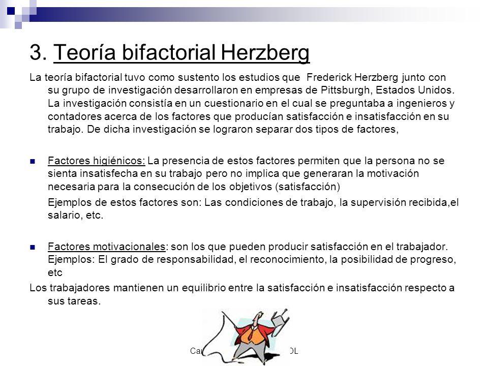 3. Teoría bifactorial Herzberg