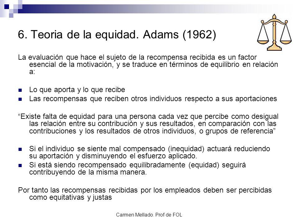 6. Teoria de la equidad. Adams (1962)