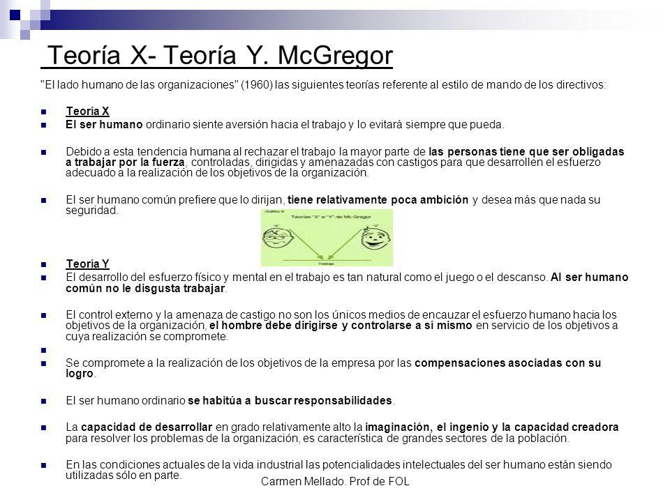 Teoría X- Teoría Y. McGregor