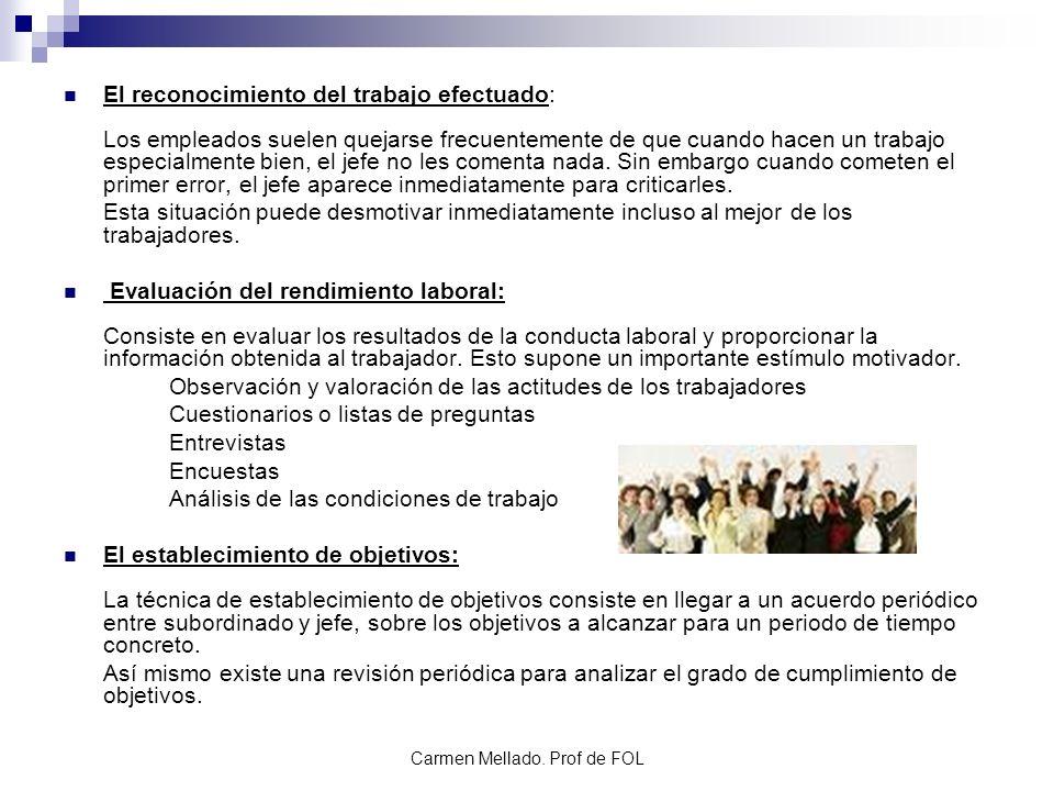 Carmen Mellado. Prof de FOL