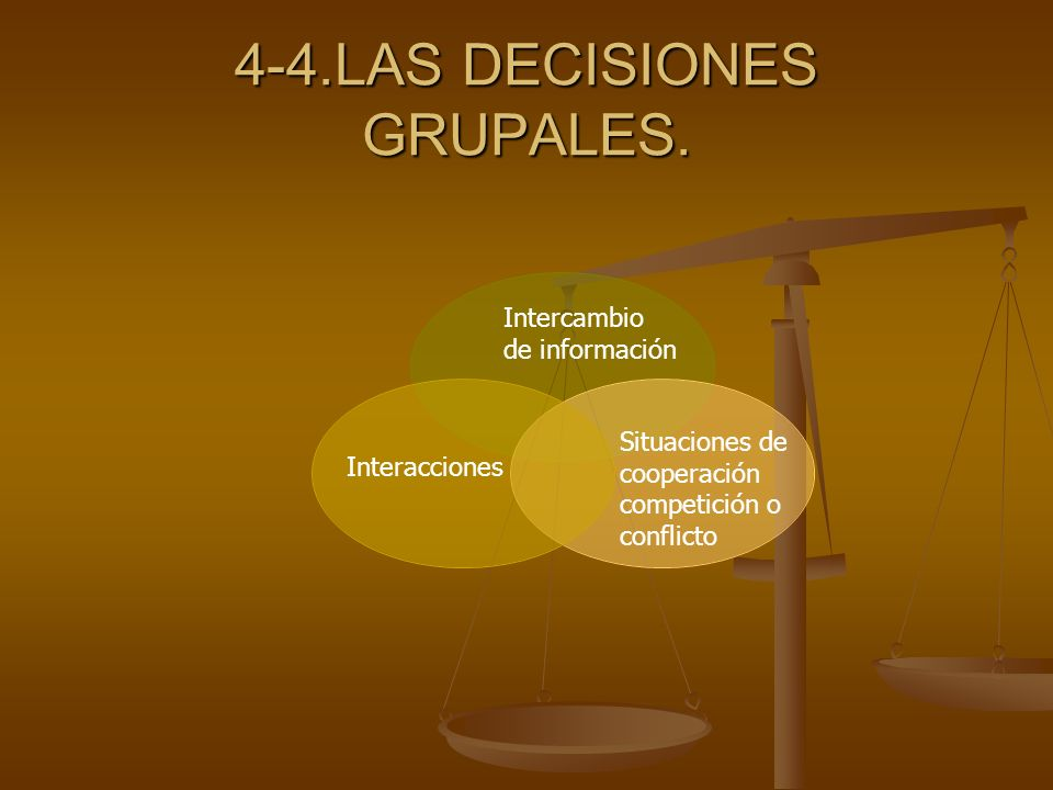 4-4.LAS DECISIONES GRUPALES.