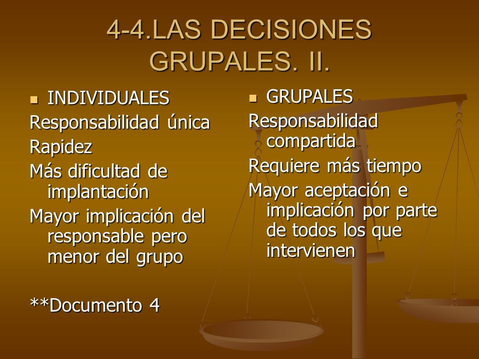 4-4.LAS DECISIONES GRUPALES. II.