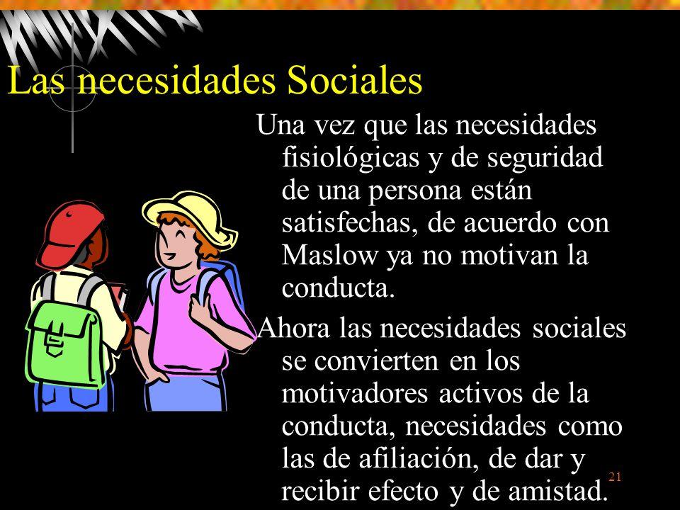 Las necesidades Sociales