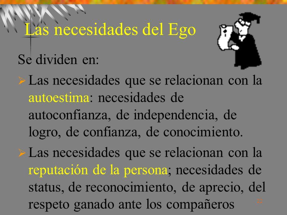 Las necesidades del Ego