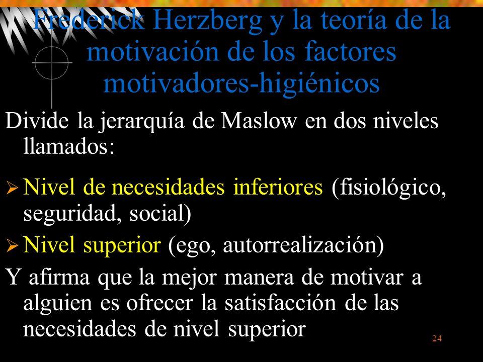 Frederick Herzberg y la teoría de la motivación de los factores motivadores-higiénicos