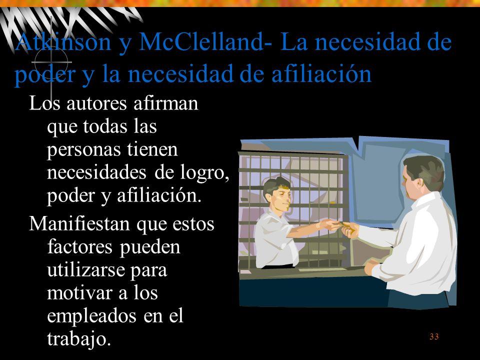 Atkinson y McClelland- La necesidad de poder y la necesidad de afiliación