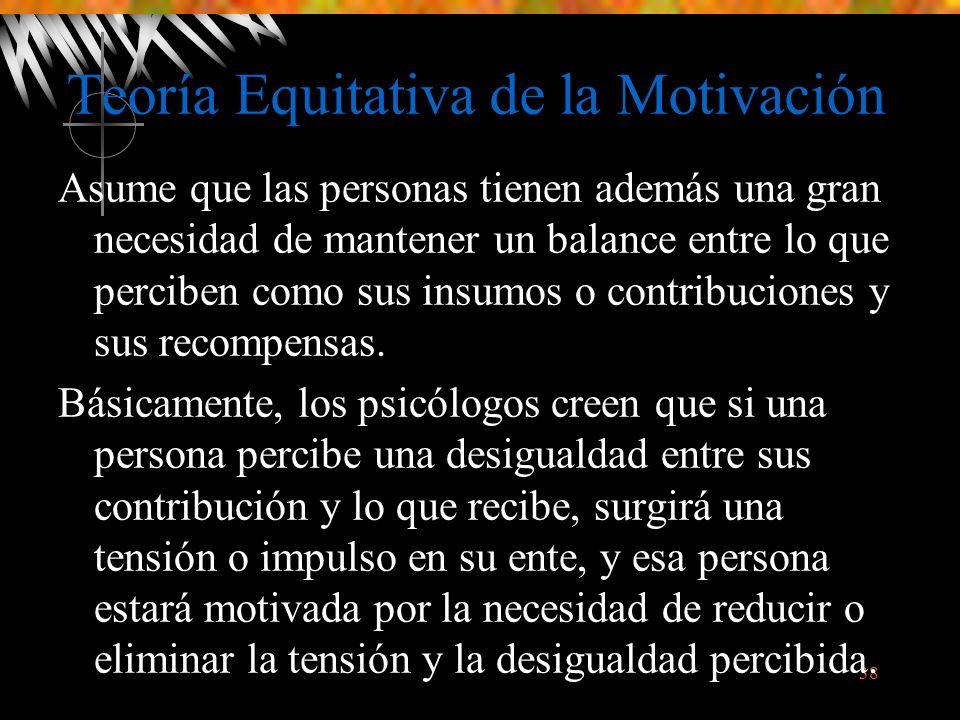Teoría Equitativa de la Motivación