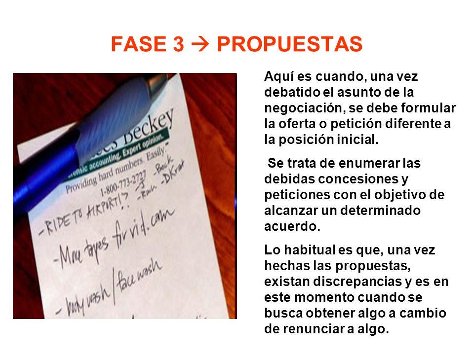 FASE 3  PROPUESTAS