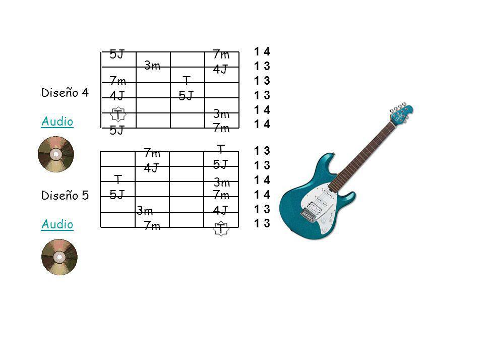 5J7m. 1 4. 1 3. 3m. 4J. 7m. T. Diseño 4. Audio. 4J. 5J. T. 3m. 5J. 7m. T. 7m. 1 3. 1 4. 5J. 4J. T. 3m.