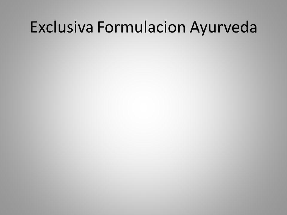 Exclusiva Formulacion Ayurveda