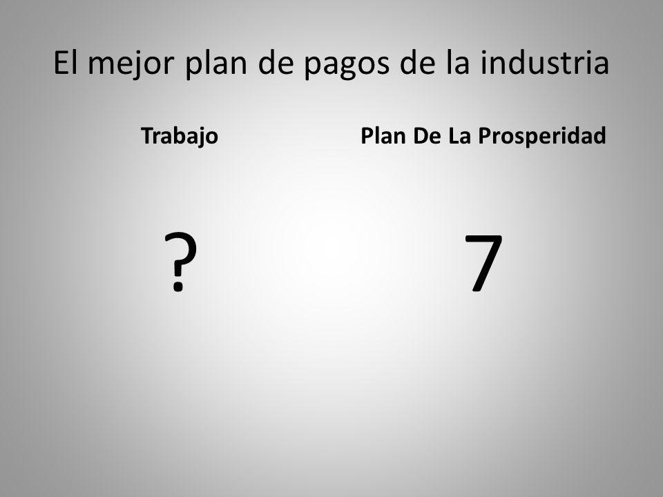 El mejor plan de pagos de la industria