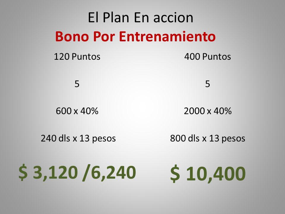 El Plan En accion Bono Por Entrenamiento