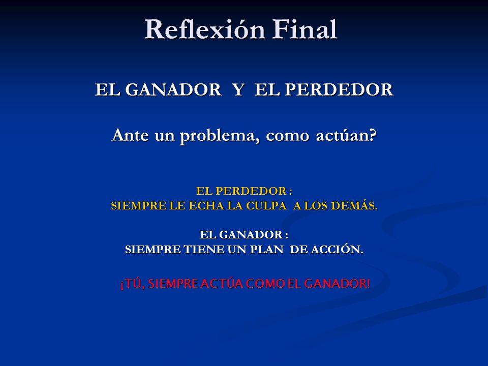 Reflexión Final EL GANADOR Y EL PERDEDOR