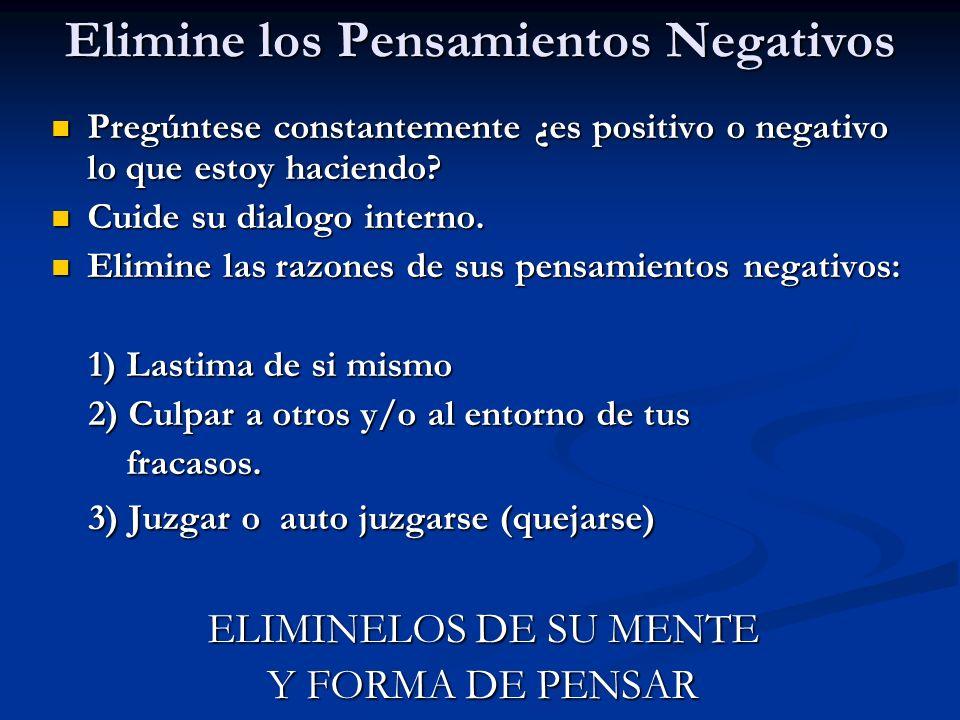 Elimine los Pensamientos Negativos