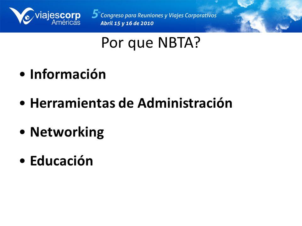 Por que NBTA Información Herramientas de Administración Networking