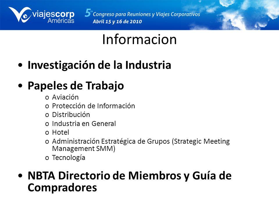 Informacion Investigación de la Industria Papeles de Trabajo