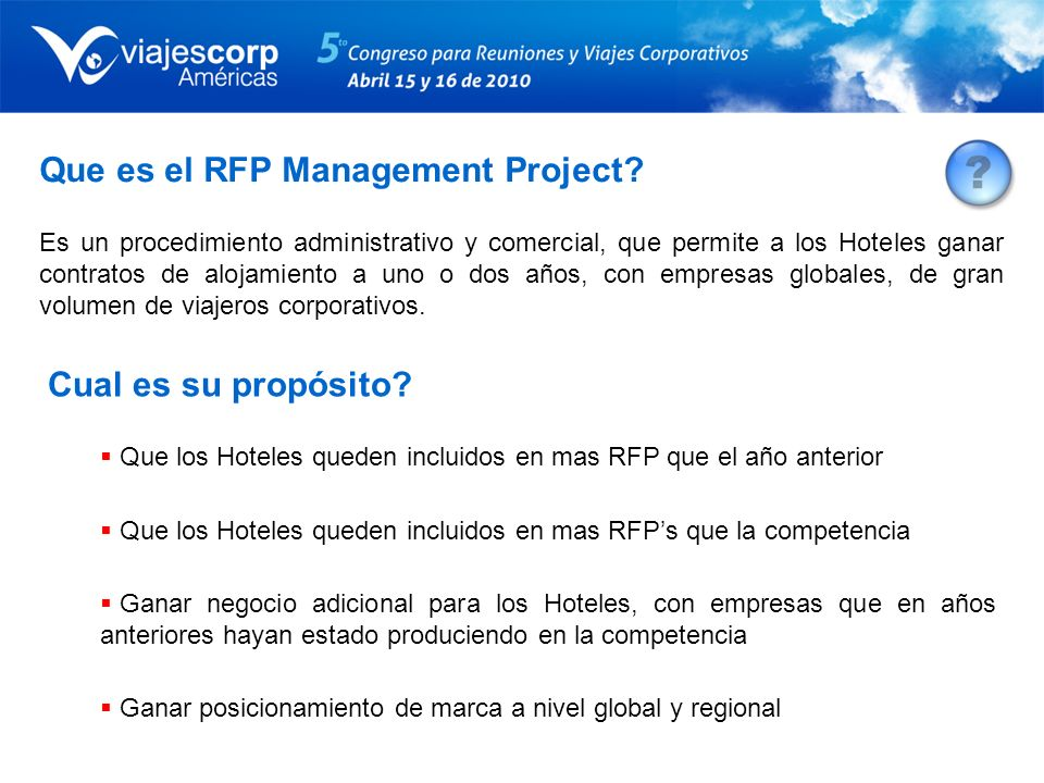 Que es el RFP Management Project